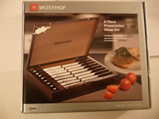 Wusthof Stainless Steel Eight Piece Steak Knife Set with Black Box 9468