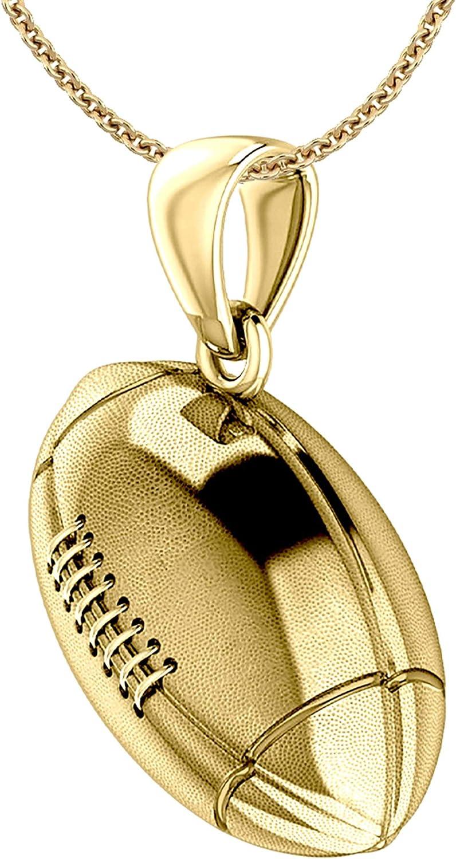US Topics on TV Jewels Ladies 14K Yellow Gold Finally popular brand Sports P 3D Large Football 17mm