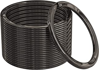 Sponsored Ad - Silipac Flat Metal Key Rings Split Round Bulk - Heavy Duty Stainless Steel KeyChain Multipurpose for Car, H...