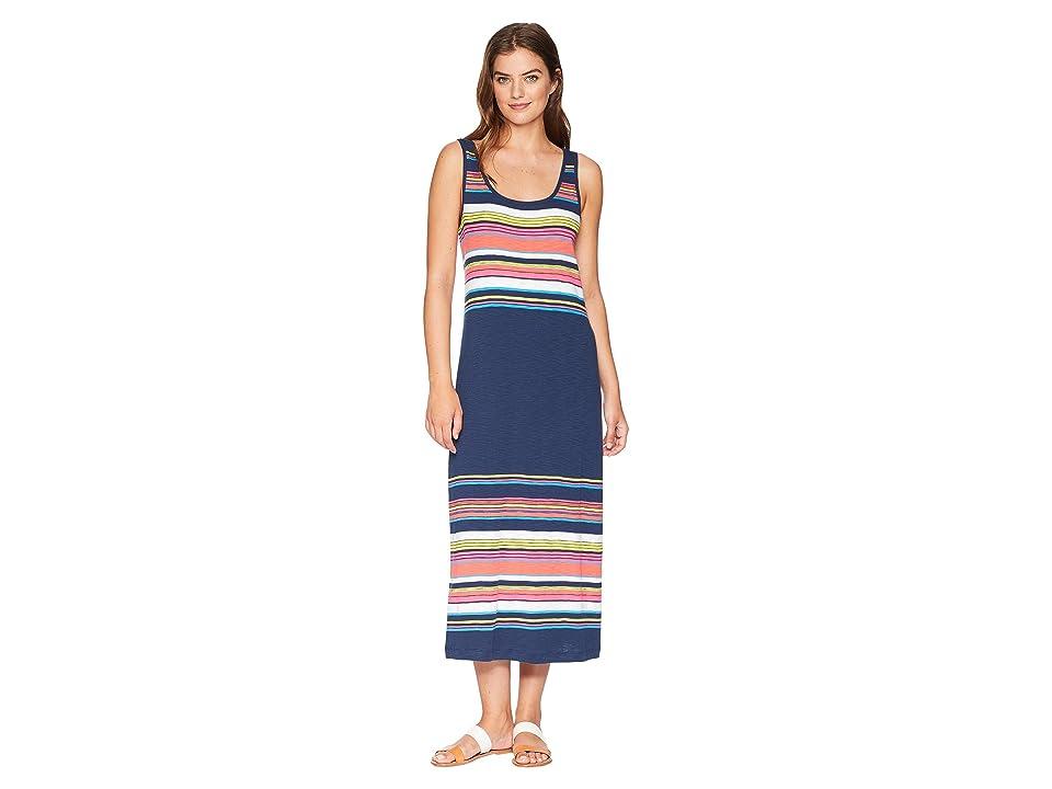 Tommy Bahama Festival Stripe Midi Dress (Ocean Deep) Women