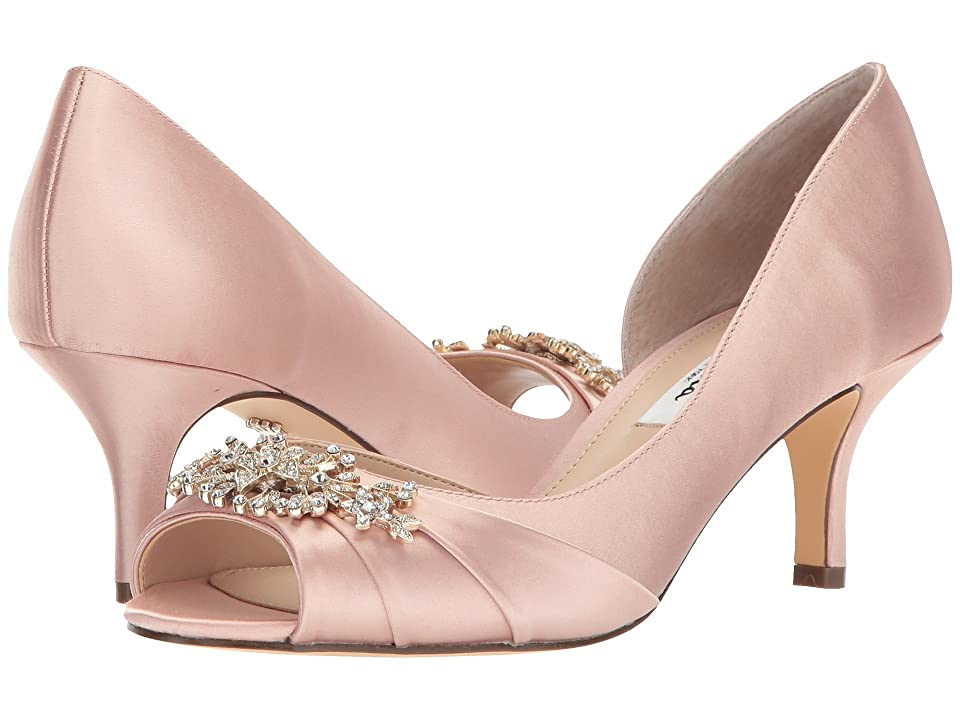 Nina Cyrene (Blush Crystal Satin) High Heels