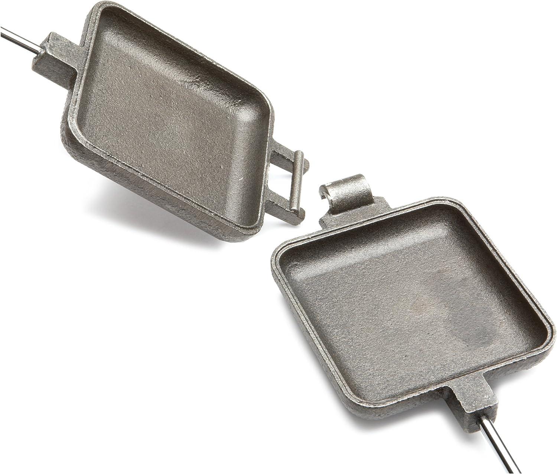 27-inch Cast Iron Square Pudgy Pie Maker Campfire Pudgie Sandwich Cooker Single