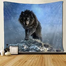 SARA NELL Tapestry Dire Wolf Fierce King Animal Tapestries Wall Hanging Hippie Art Home Decoration College Dorm Decor for Living Room Bedroom 60x80 Inches