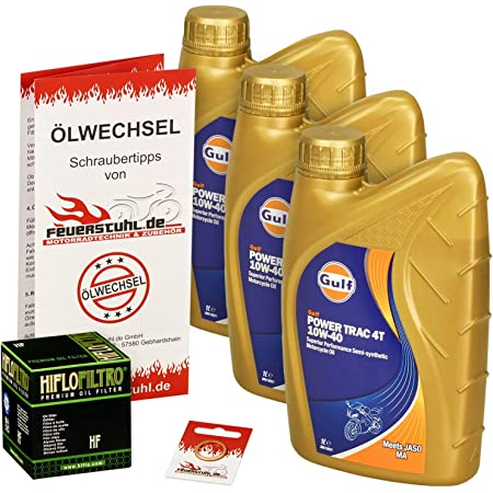 Gulf 10w 40 Öl Hiflo Ölfilter Für Kawasaki Klr 650 Tengai 87 91 Kl650a Kl650b Ölwechselset Inkl Motoröl Filter Dichtring Auto