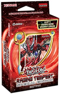 Yu-Gi-Oh Cards! Raging Tempest Special Edition Deck | 3 Booster Packs | 2 Super Rare Cards | Genuine Cards, Multicolor, Mo...