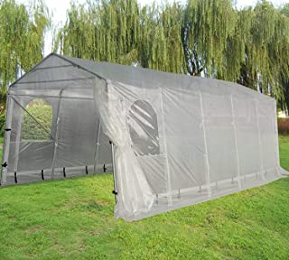 Quictent Snow Shed 11`X20` Heavy Duty Carport Garage Car Shelter with Observation Window