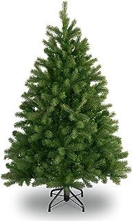MAURER Albero di Natale 112 LED Luce Calda Luminoso Innevato con Neve 120 cm