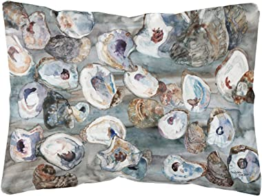 Caroline's Treasures 8957PW1216 Bunch of Oysters Canvas Fabric Decorative Pillow, 12H x16W, Multicolor
