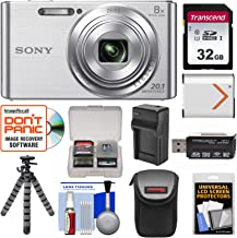 Sony Cyber-Shot DSC-W830 Digital Camera (Silver) with...