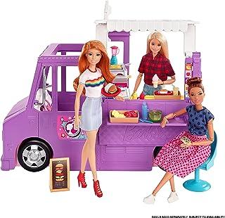 """Barbie, Foodtruck Zestaw Do Zabawy Otwierana Furgonetka Z """"Jedzeniem"""" + Ponad 30 Akcesoriów GMW07"""