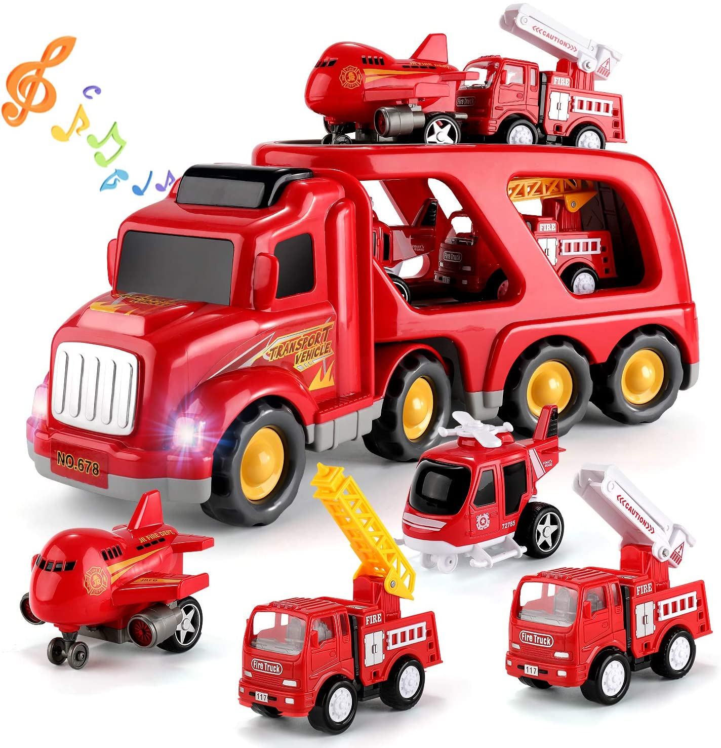 TEMI Fire Carrier Truck Transport Car Play Recommendation 1 5 Vehicles - Challenge the lowest price of Japan Fri in
