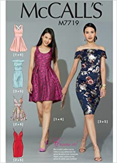 McCall's Patterns M7719A50 Misses' Dresses Sewing Pattern, A5 (6-8-10-12-14)