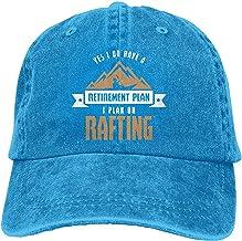 yanyuz Sí, Tengo un Plan de jubilación Planeo Hacer Rafting Sombrero de papá Adulto Sombrero de béisbol Gorra desgastada Lavada Vintage