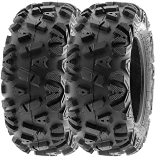 SunF 22x10-12 22x10x12 ATV UTV A/T Replacement Race 6 PR Tubeless Tires A033 POWER I, [Set of 2]