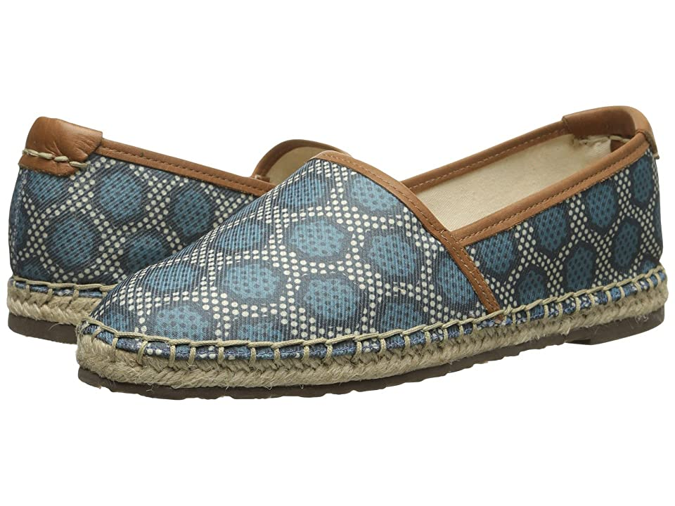 Sebago Darien Slip On (Navy Canvas Print) Women