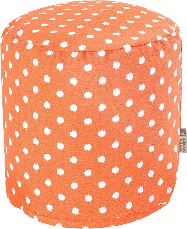 Majestic Home Goods orange Ikat Dot Small Pouf