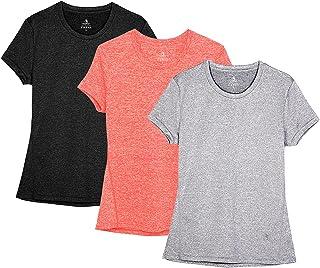 icyZone® Damer sport T-shirt löpning fitness tröjor sportkläder kortärmade toppar kortärmad topp