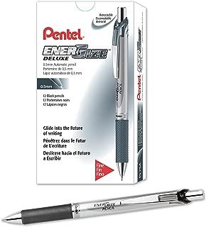 Pentel EnerGize Mechanical Pencil (0.5mm) Black Accents, Box of 12 (PL75A)
