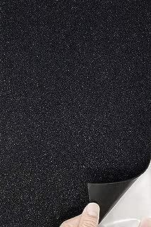 Allgala 12 Pack Self-Adhesive Glitter EVA Foam Paper 8x12 Inch Sheets-Black-CF85210