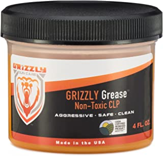 Grizzly Grease Non-Toxic CLP 4 FL OZ. - Gun Cleaner - Gun Lubricant - Firearm Protectant - ALL IN ONE Gun Cleaning Formula!