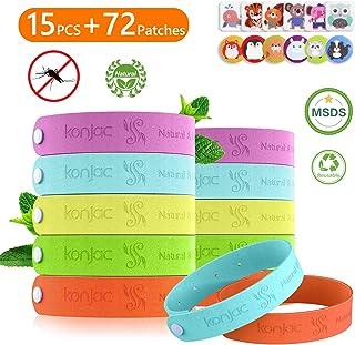 konjac 15pcs Bracelet Anti Moustique Enfant Matériau Naturel 100% Durant 250 Heures..