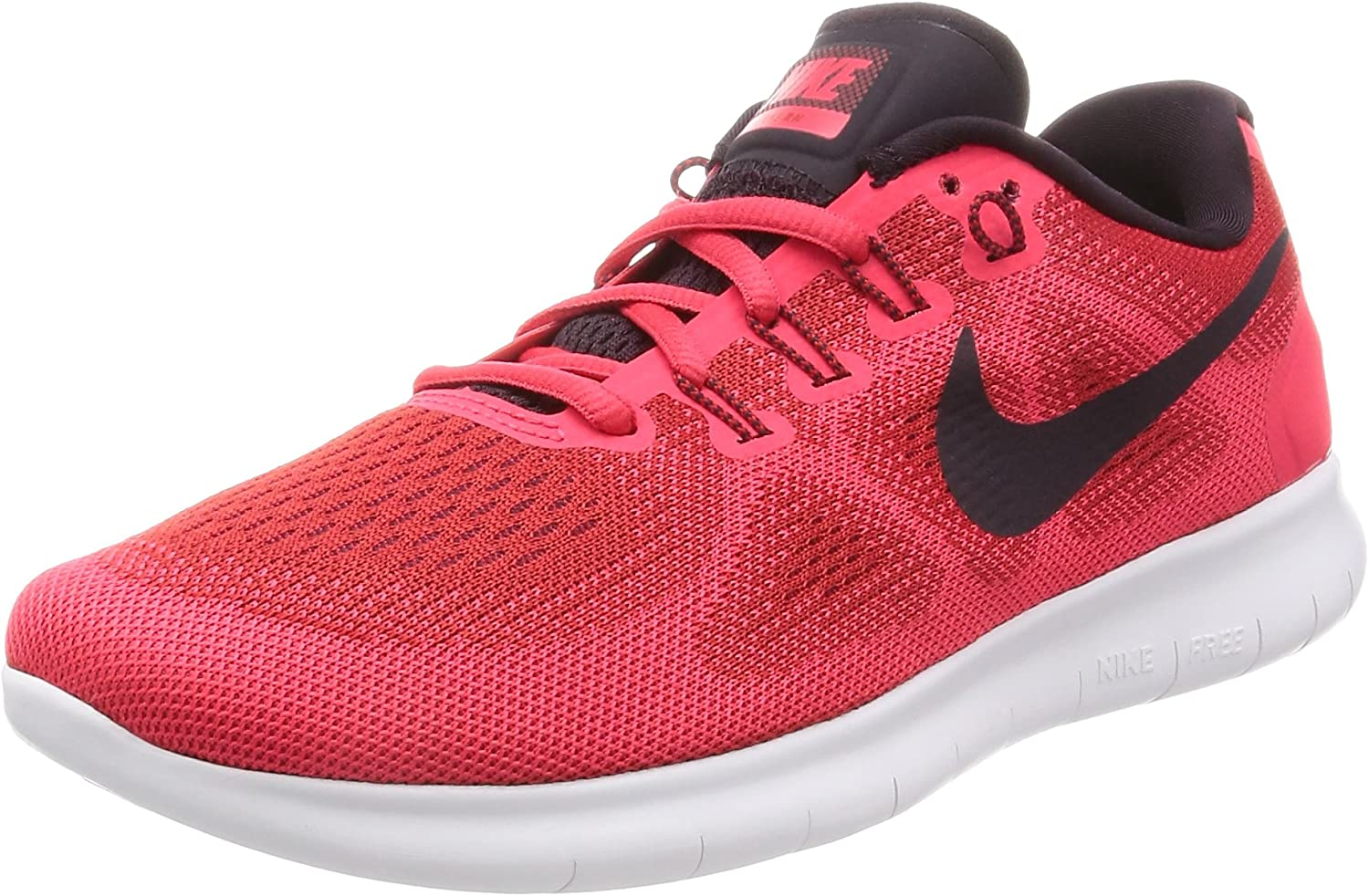NIKE Women's Free RN 2017 Size US 7.5 M University Red Black-Port Wine