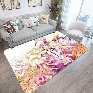 3D Natsume Yuujinchou 53 Japan Anime Game Non Slip Rug Room Mat Round Quality Elegant Carpet US AJ WALLPAPER Zoe (H60cmxW90cm【23.6