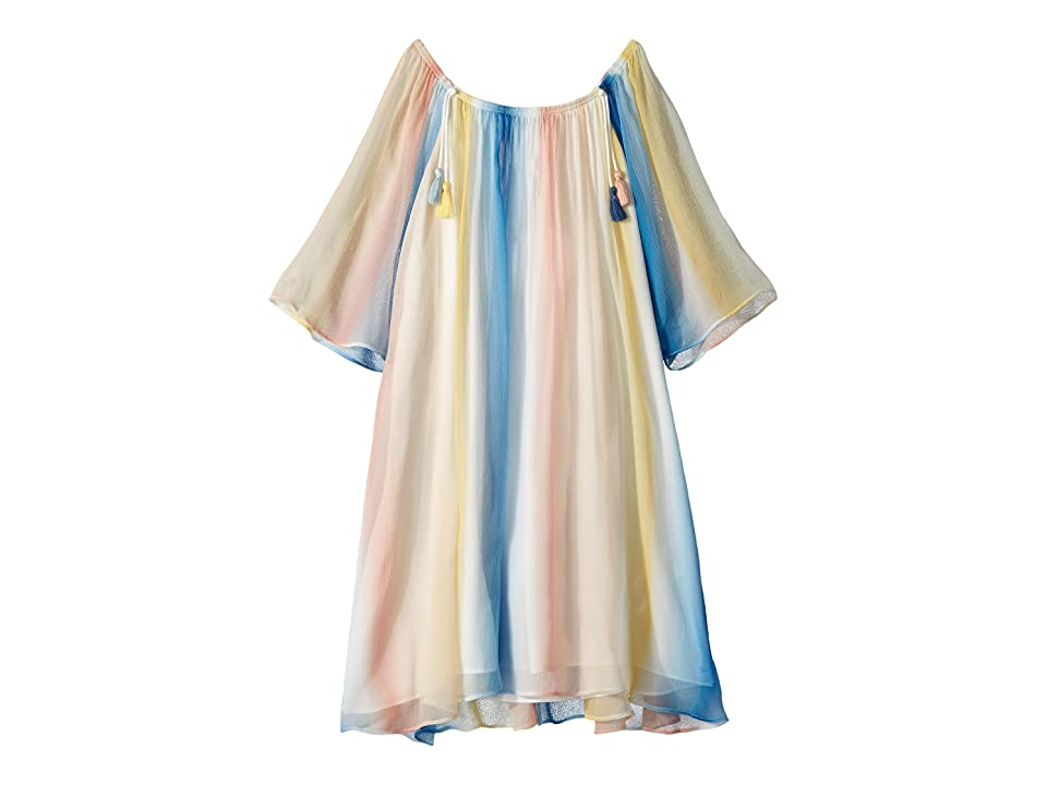 Chloe Kids Mini Me Couture Dress Rainbow Striped (Little Kids/Big Kids) (Bleu Rose) Girl