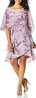 فستان نسائي من طبقات بيبل من S.L. Fashions (مقاسات صغيرة وعادية)