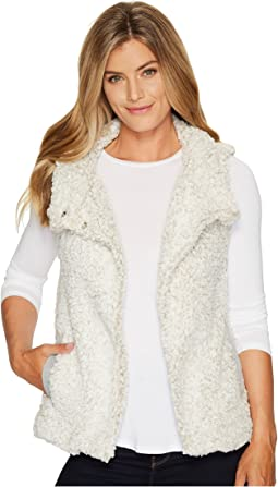 Dylan by True Grit - Frosty Tipped Pile Cozy Vest with Knit Lining