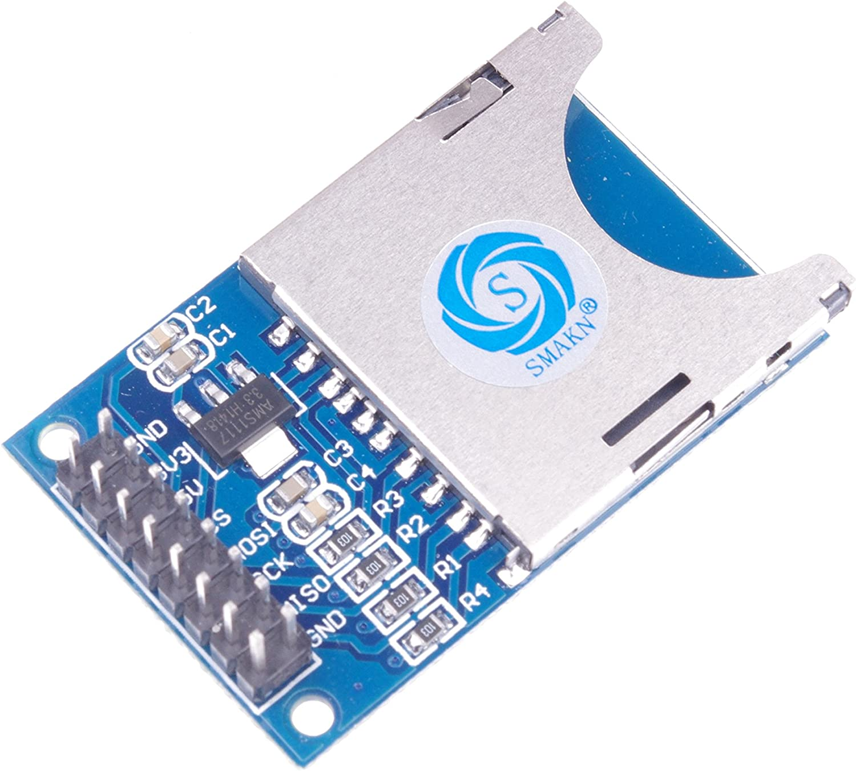 SMAKN SD Card Reader Module Chip SD SPI Interface, SD Card Socket SD Card Reader Module