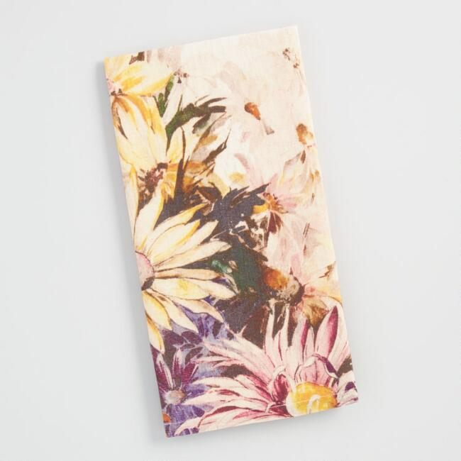 Floral Watercolor Sketch Kitchen Towel | World Market