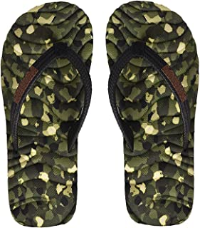 Electra Kids Olive&Black Color Thong-Style Slippers/Flip Flops