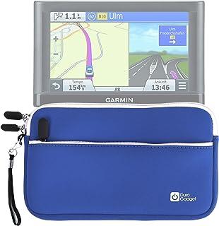 DURAGADGET Funda De Neopreno Azul para GPS Garmin Nüvi 66LMT / 2699LMT-D / 56LMT / 2589LMT EU - con Bolsillo Exterior + Correa De Mano