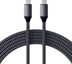 Satechi USB-C to USB-C 100W Charging Cable for USB Type-C Devices - 6.5 Feet (2 Meters) - Compatible with 2019/2018/2017 MacBook Pro, 2018 iPad Pro, 2018 MacBook Air, Samsung Galaxy S10