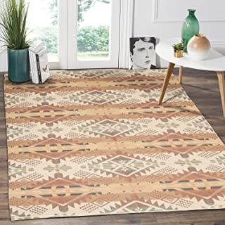 HEBE Cotton Area Rug 4'x6' Washable Large Hand Woven Multi Color Striped Cotton Area Rag Rug Floor Carpets for Bedroom, Living Room, Kitchen,Kids Room(Multicolor)