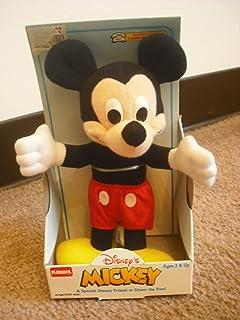 "Disney Mickey Mouse Plush Vintage 7"""