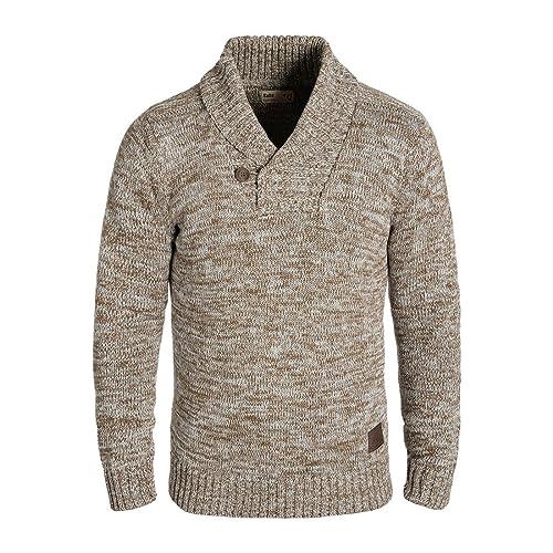 20f69135d79b Solid Phil Jersey De Punto Suéter Sudadera De Punto Grueso Para Hombre Con  Cuello Esmoquin De