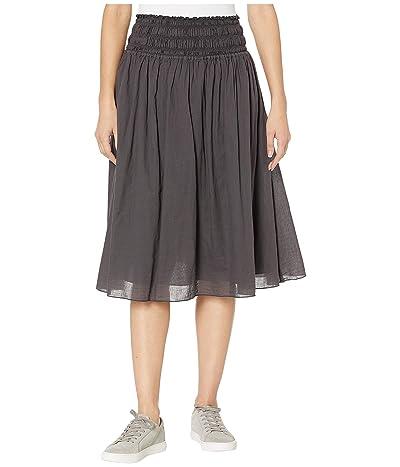 Hard Tail Smocked Waist Ballet Skirt (Raven) Women