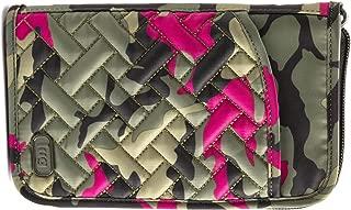 Women's Tandem Zip Passport Wallet, Brushed Black