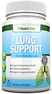 Lung Cleanse - Powerful Lung Detox Program - 100% Vegetable Based - Great for Smokers - Supports Respiratory Health - Helps Reduce The Production of Mucus - Promotes Comfortable Breathing