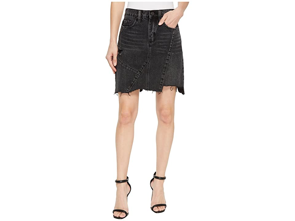 Blank NYC High-Rise Asymmetric Mini Skirt in Black Ice (Black Ice) Women