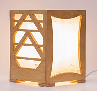 """Lampada da tavolo in legno""""Geometric"""""""