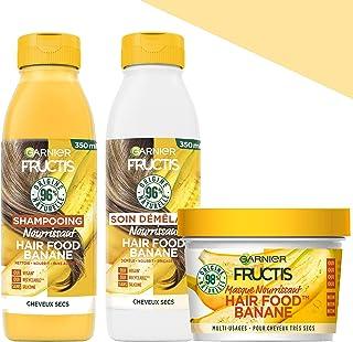 Garnier Fructis Hair Food Coffret Routine à la Banane pour cheveux secs - 98% d'ingrédients d'origine naturelle