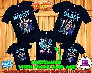 Frozen Birthday Shirt, Frozen Custom Shirt, Personalized Frozen Shirt, Frozen family shirts, Birthday t-shirt for girls and boys