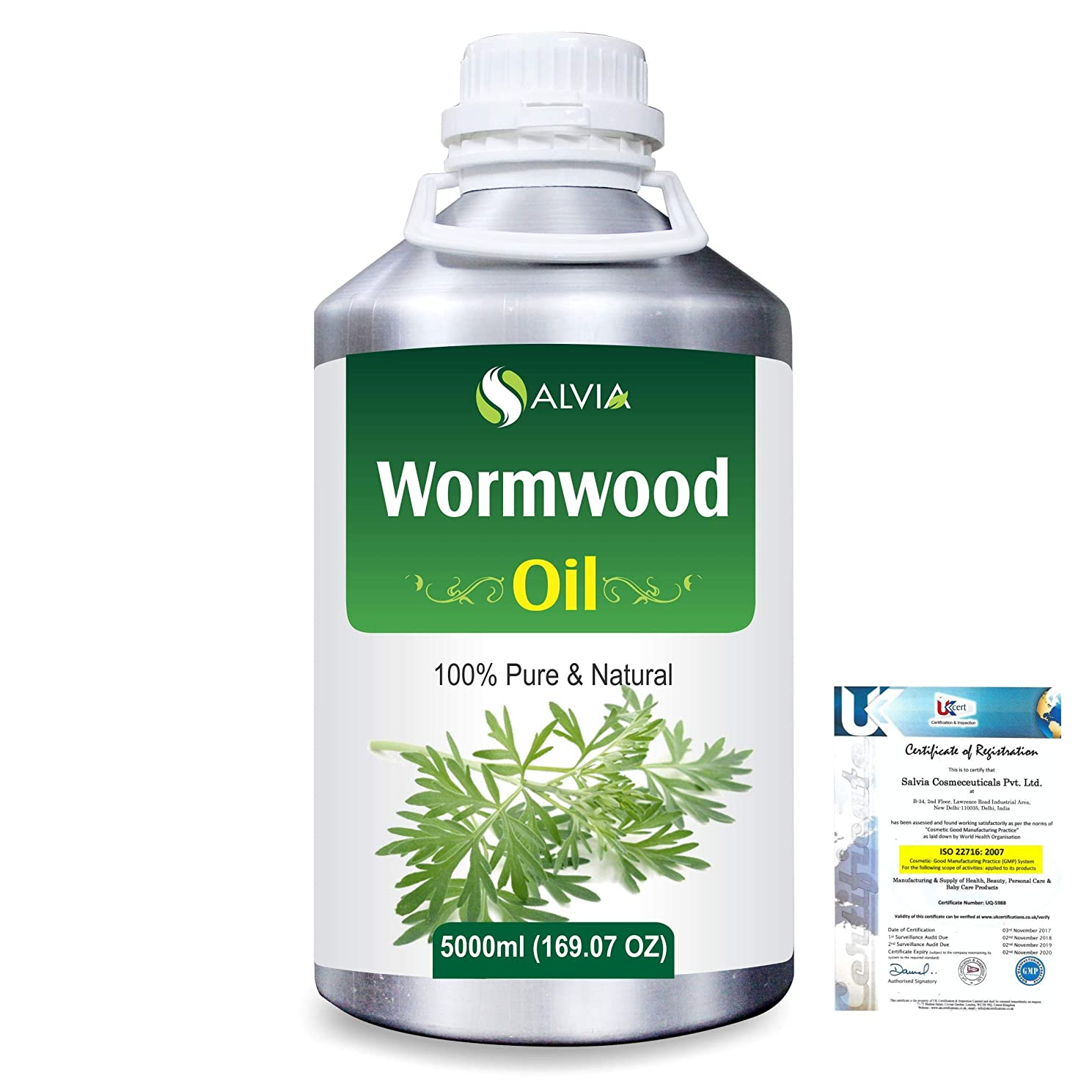 ジムオープニングラッシュWormwood (Artemisia absinthium) 100% Natural Pure Essential Oil 5000ml/169fl.oz.