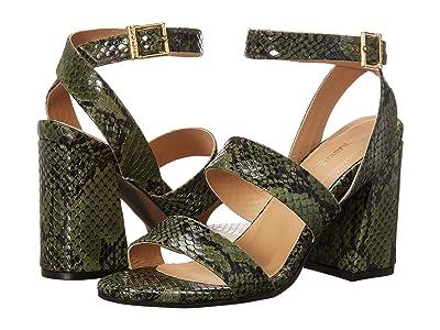 KAANAS Komodo Strappy Snake Heel (Olive) Women