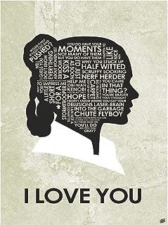 I Love You Word Art Print Poster (9