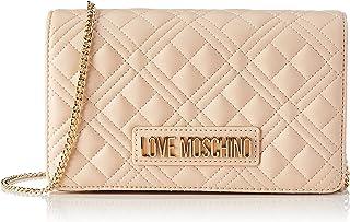 Love Moschino Damen, Schultertasche, Kollektion Herbst Winter 2021, Weiß, U
