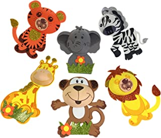 AVELLIM 12 Large Safari Jungle Zoo Animals (7.5